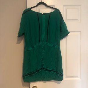 Rag and bone green silk dress